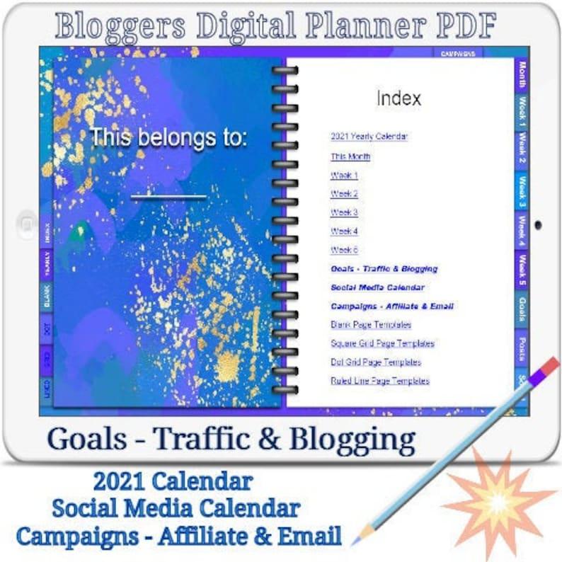 Bloggers Digital Planner Vol.1 2021 Goodnotes Planner Pdf image 0