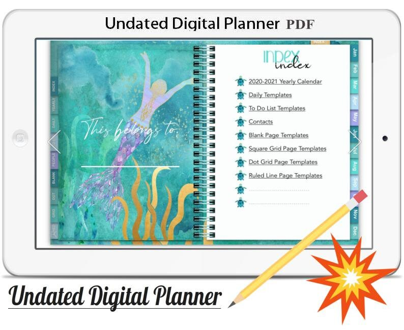 Digital Planner Vol.7 2020/21Undated Digital Planner image 0