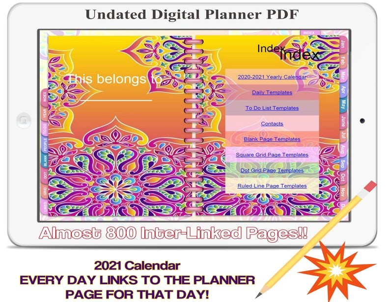 Digital Planner HI-2 2020/21Undated Digital Planner image 0