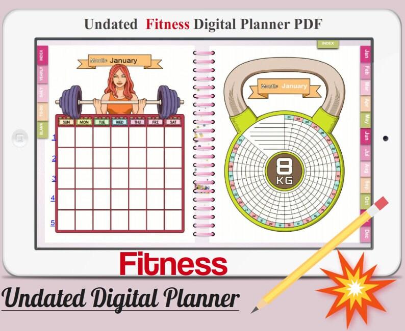 Fitness Digital Planner Vol.1 Undated Digital Planner image 0