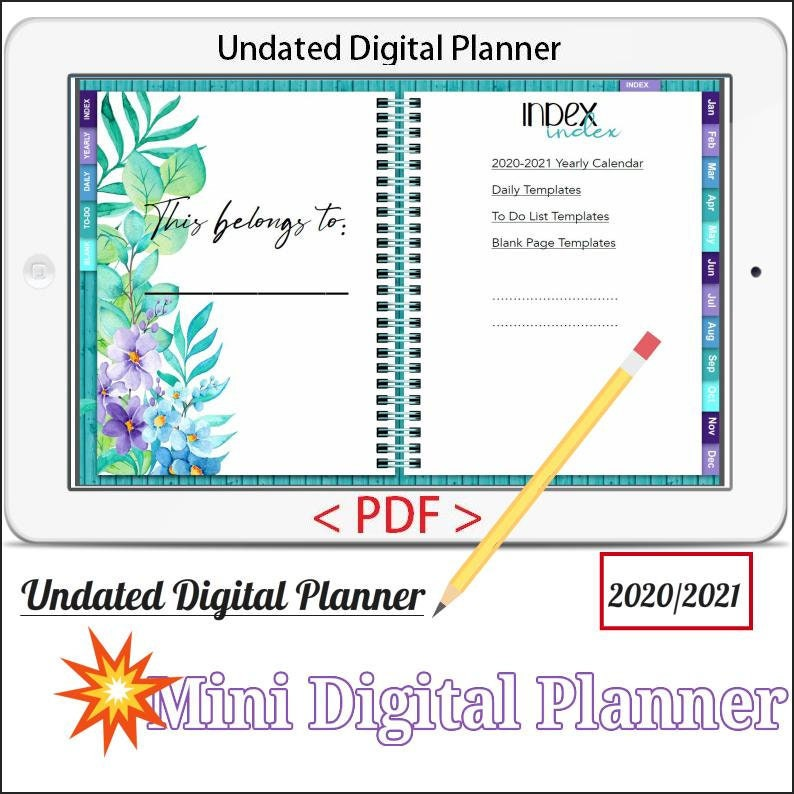 Mini Digital Planner Vol.3  Undated Digital Planner Goodnotes image 0