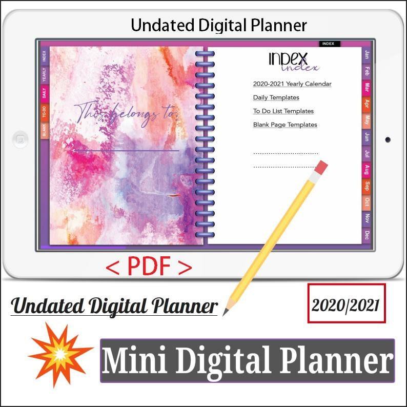 Mini Digital Planner Vol.1  Undated Digital Planner Goodnotes image 0