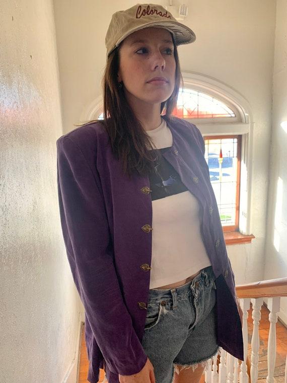 Purple Prince Shirt Jacket - image 2