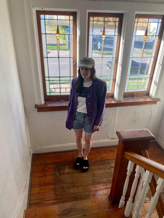 Purple Prince Shirt Jacket - image 5