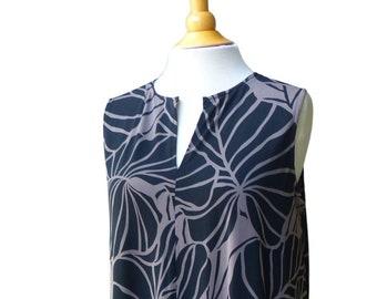 Stretch Knit 2 Way Summer Relaxed Comfy Dress | Hawaiian Print