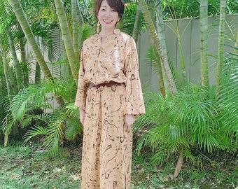 Unisex Kaftan Shirt dress | Mens Kaftan, Long Shirt, Loungewear, BOHO | Fish Hook Good Luck Prints