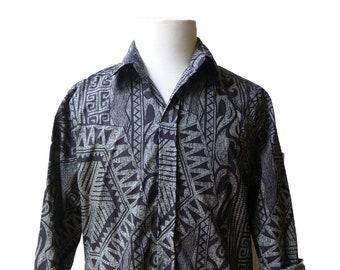 Dressy Long Sleeve Hawaiian Shirt | Men's Dress Shirts