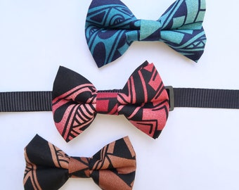 Ombre Tapa Print Dog or Cat Bow Tie   S,M, L