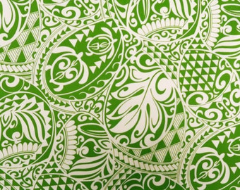 Polynesian Tribal Tapa Turtle Print 100%  Cotton - C228GREEN