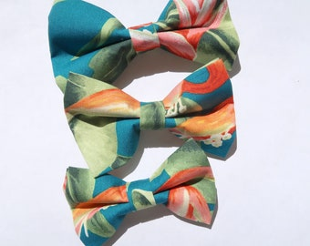 Floral Print Dog or Cat Bow Tie   S,M, L