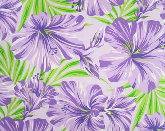 Hibiscus Print Hawaiian Mask/Bandanna/Fabric-purple PC077PU