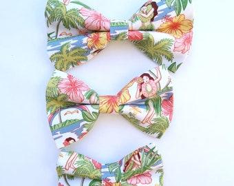 Dog Bow Ties in Hula Girl Print | S,M, L