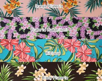 2 yd Poly Cotton Trial Pre-cut Fabric Set-Peach/Blue/Black SET209
