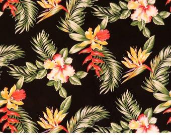 6 yd Discount Price 100% Cotton Hawaiian Fabric-Plumeria,BOP,Hibiscus O210