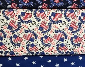 American Patriot Flag, Star Prints Fabric C257