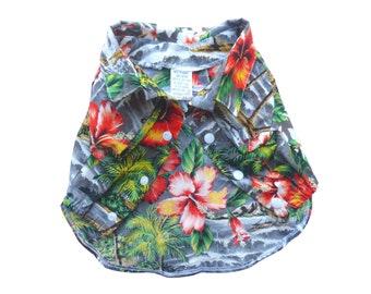 Dog's Aloha Shirts | Blue Hawaiian | Gray, Blue