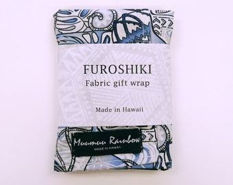 Gift Wrap Fabric Ipu Print | Eco Wrapping Cotton Cloth | SMALL | Napkin, Bandanna