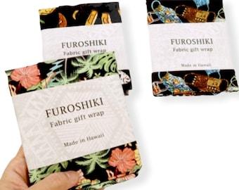 Hawaiian Hula Girl Print Fabric Gift Wrap Furoshiki | Eco Wrapping Cloth | SMALL