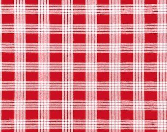 Cotton Yarn Dyed Hawaiian Vintage Palak Fabric | 100% Cotton by yard | Red