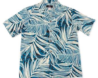 Palm Leaf Summer Hawaiian Shirt | Deep Green