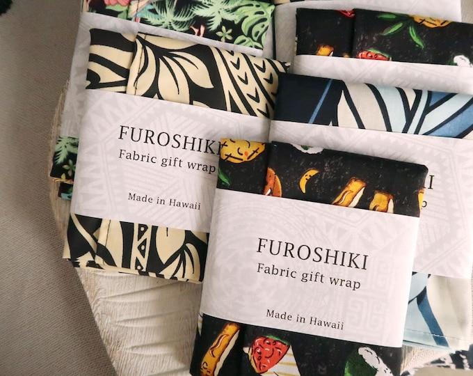 Featured listing image: Gift Wrap Hawaiian Fabric Furoshiki | Eco Wrapping Cloth SMALL | F253