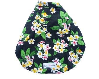 Dog's Fashion | Plumeria Bouquet Flower Print Shirts | Black