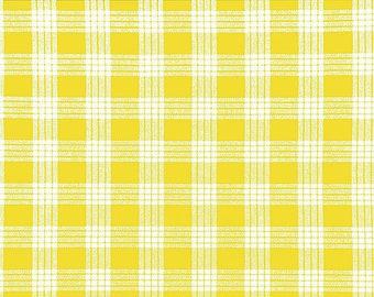 Cotton Yarn Dyed Hawaiian Vintage Palak Fabric | 100% Cotton by yard | Yellow