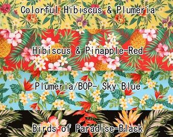 2yd Set : 1/2yd cut each Paradise Flower Cotton Hawaiian Fabric-April SET203