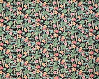 Vintage Feeling Hula Girls Hawaiian Print Fabric 100% Cotton -Black C141BK