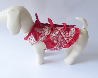 Dog's Triple Ribbon Dress | Red Tapa