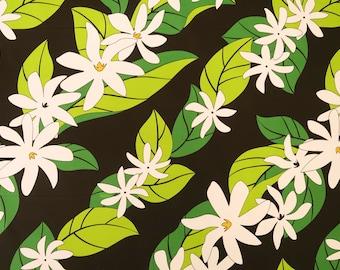 Tiare Shower Hawaiian Fabric - Black PC098BK