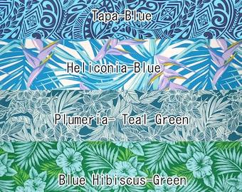 2yd Poly Cotton Trial Pre-cut Fabric Set-Green/Blue SET08b
