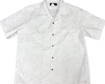 White Hawaiian Shirt for Wedding and Honeymoon | Plumeria