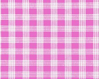 Cotton Yarn Dyed Hawaiian Vintage Palak Fabric | 100% Cotton by yard | Pink
