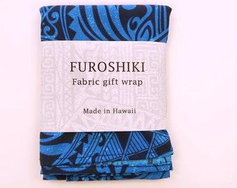 Gift Wrap Fabric Tribal Print | Eco Wrapping Cotton Cloth | SMALL | Napkin, Bandanna