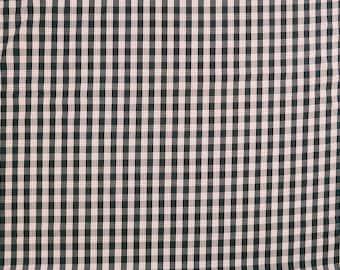Hawaiian Palaka Print Fabric - Retro & Vintage Style Cotton Fabric -Black C135BK