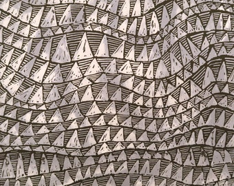 Shark Teeth Fabric 100% Cotton -Grey C241Gr