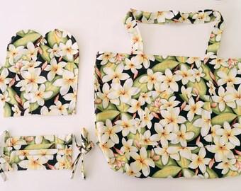 Hawaiian Fabric Bag & Mitten Gift Set MS189