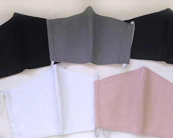 Linen Face Mask Pack | 3 layers M174