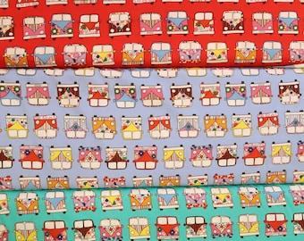 Bus Prints Calico Fabrics C256