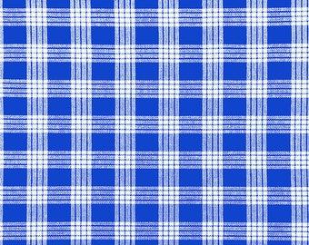 Cotton Yarn Dyed Hawaiian Vintage Palak Fabric | 100% Cotton by yard | Blue