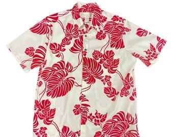 Monstera Hawaiian Original Shirt | Red Botanical Prints