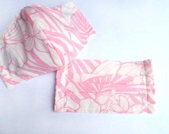 Hawaiian Fabric Reusable Mask | Hibiscus Pastel Blue M166