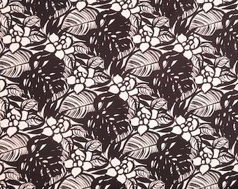 Modern Floral Fabric 100% Cotton | Black & White C121BW