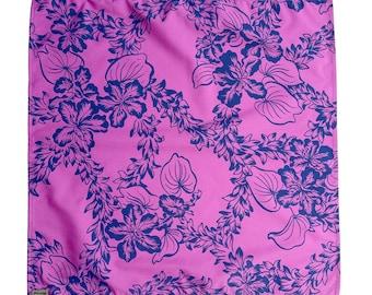 Gift Wrap Vintage Print Fabric Furoshiki | Made in Hawaii | Tuberose | Small