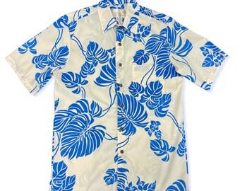 Monstera Hawaiian Original Shirt | Blue Botanical Prints