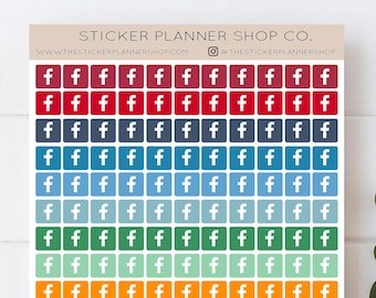 Facebook Icon Planner Stickers