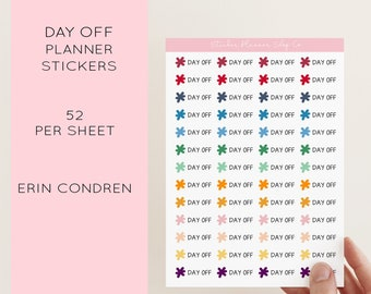 Day Off Planner Stickers - 52 Stickers