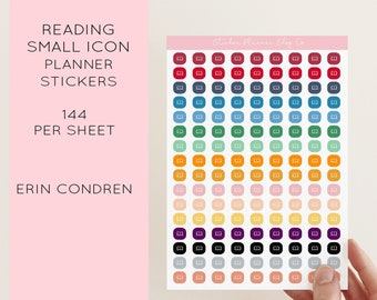 Reading Small Icon Planner Sticker - 144 Stickers - Erin Condren Planner Stickers