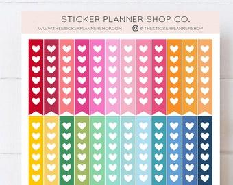 Heart Checklist Planner Stickers - 36 Stickers